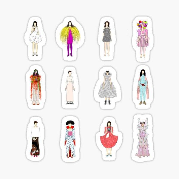 Outfits of Bjork Fashion Sticker