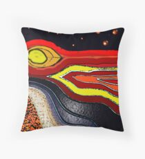 Floating on the southern sea of tranquality  Throw Pillow