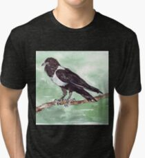 Domino, the Pied Crow (Corvus albus) Tri-blend T-Shirt