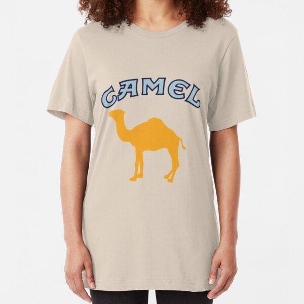 Camel Cigarette Logo Slim Fit T-Shirt