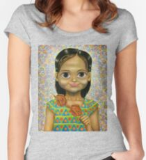Chicken Head Girl Women's Fitted Scoop T-Shirt