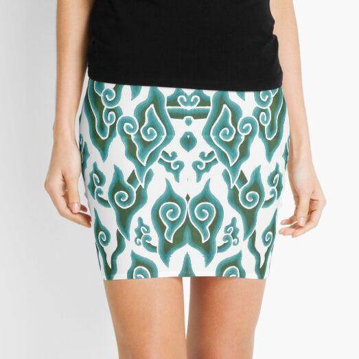 spiral, helix, scroll, loop, volute, spire Mini Skirt