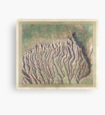 Antique Maps - Old Cartographic maps - Relief map of Mesa Verde National Park, Colorado Canvas Print