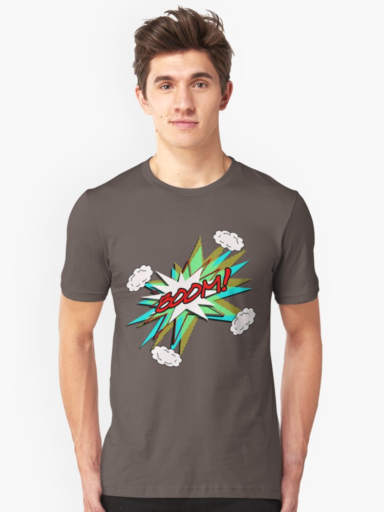BOOM! pop art Unisex T-Shirt Front