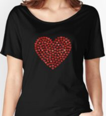 Romantic Red Love Hearts Women's Relaxed Fit T-Shirt