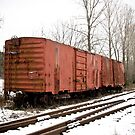Red Box Car by thewaterfallhunter
