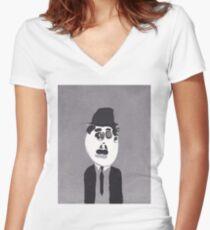 Charlie  Women's Fitted V-Neck T-Shirt