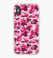 Pink Bape Camo Phone Case iPhone Case