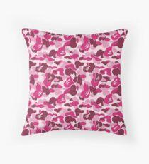 Pink Bape Camo Phone Case Throw Pillow
