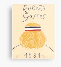 Call Me By Your Name Roland Garros 1981 Poster Metal Print