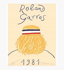Call Me By Your Name Roland Garros 1981 Poster Photographic Print