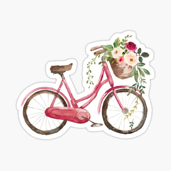 Spring Flower Bike Pegatina