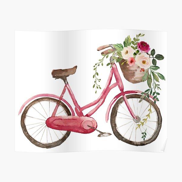Spring Flower Bike Poster