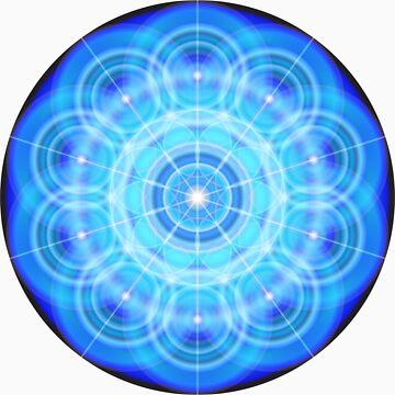 12 Phi Ratio Circles Mandala by justjoolz