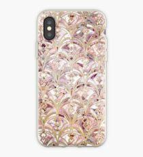 Dusty Rose und Korallen Art Deco Marmorierung Muster iPhone-Hülle & Cover