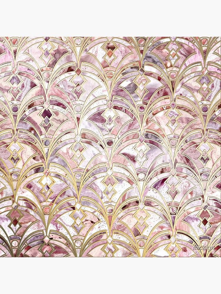 Dusty Rose und Korallen Art Deco Marmorierung Muster von micklyn