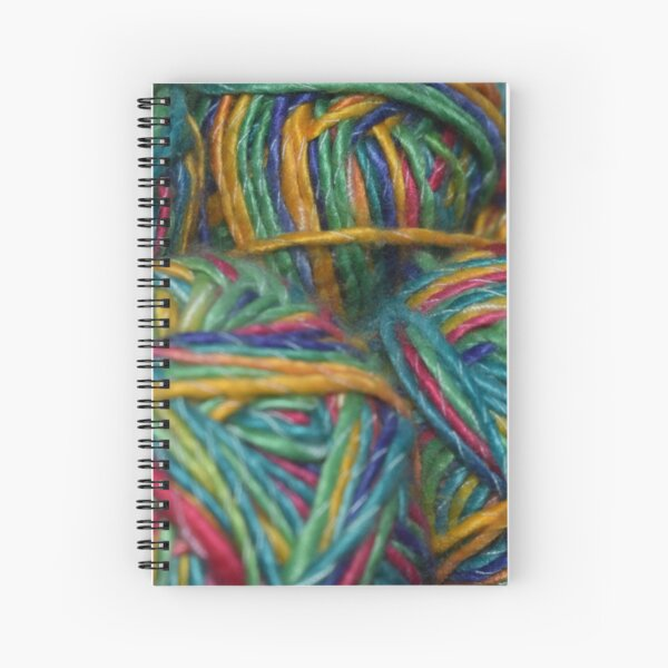 Bundle of Rainbow Yarn Spiral Notebook