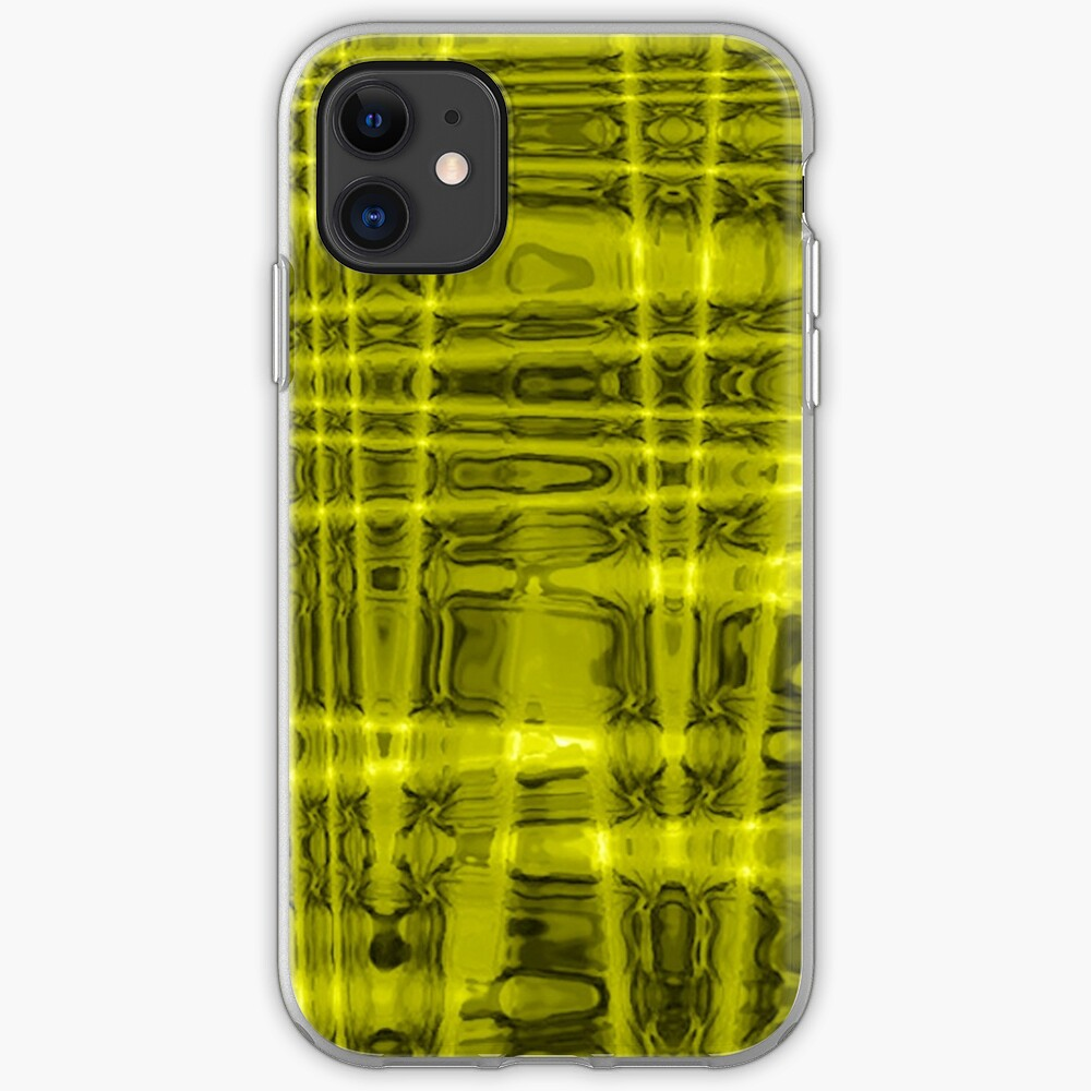 QUANTUM FIELDS ABSTRACT [1] YELLOW [1]  iPhone Soft Case