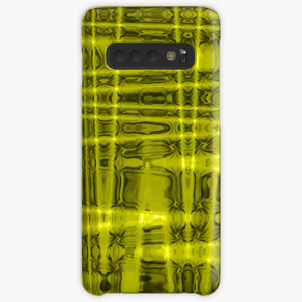 QUANTUM FIELDS ABSTRACT [1] YELLOW [1]  Samsung Galaxy Snap Case