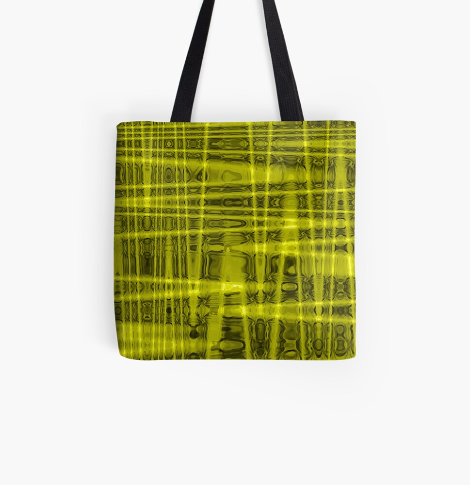 QUANTUM FIELDS ABSTRACT [1] YELLOW [1]  All Over Print Tote Bag