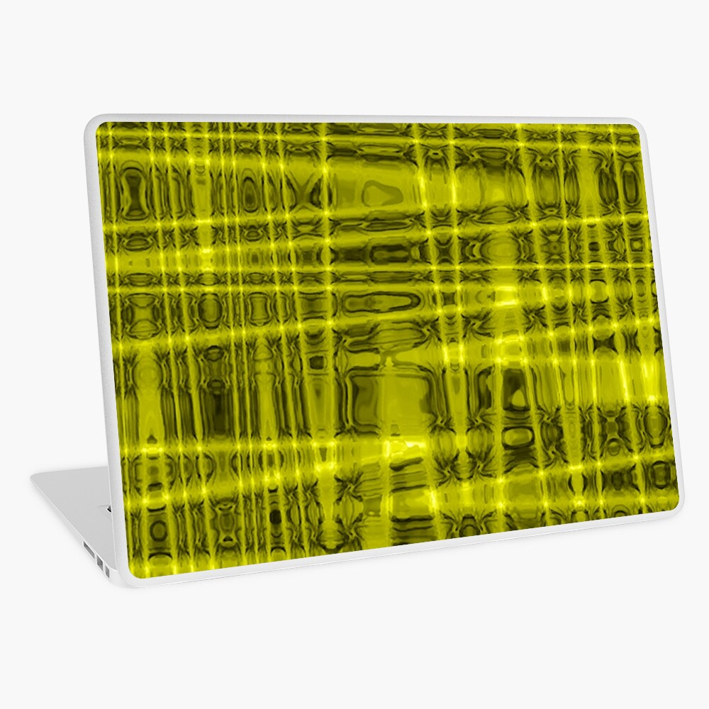 QUANTUM FIELDS ABSTRACT [1] YELLOW [1]  Laptop Skin