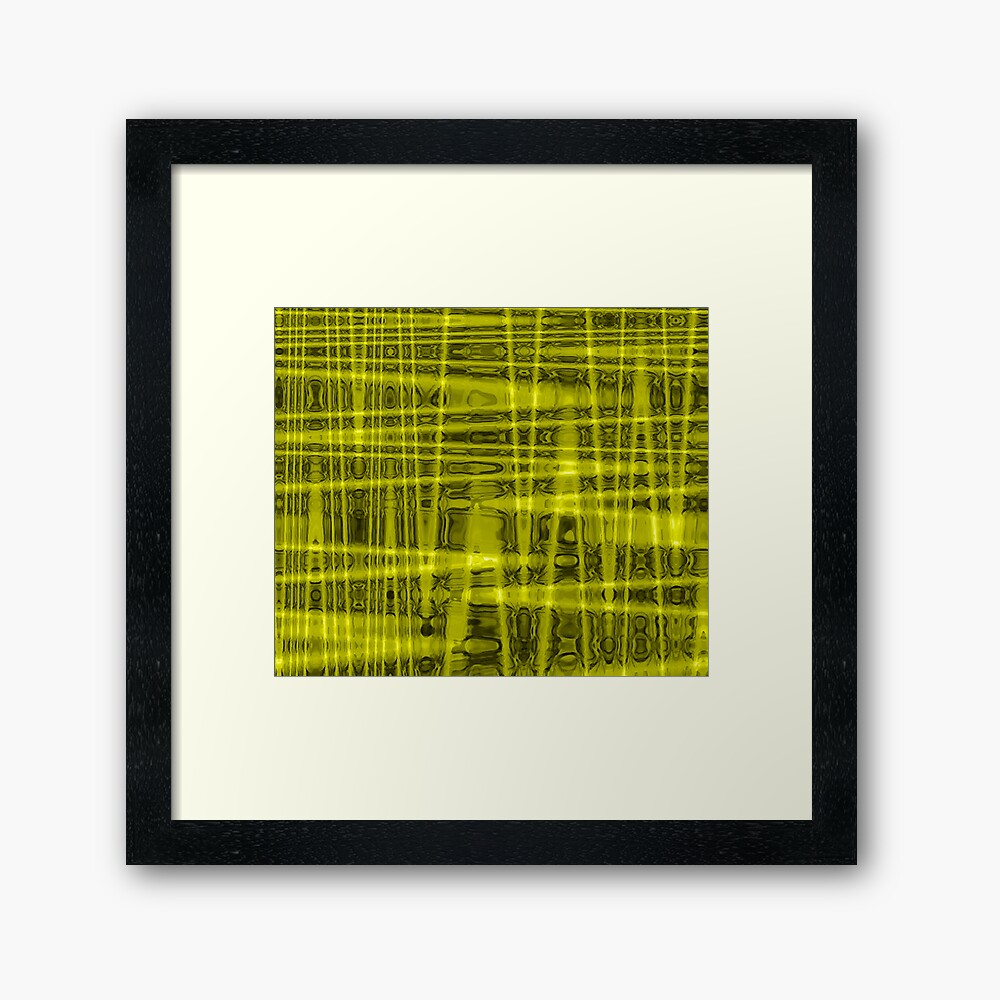 QUANTUM FIELDS ABSTRACT [1] YELLOW [1]  Framed Art Print