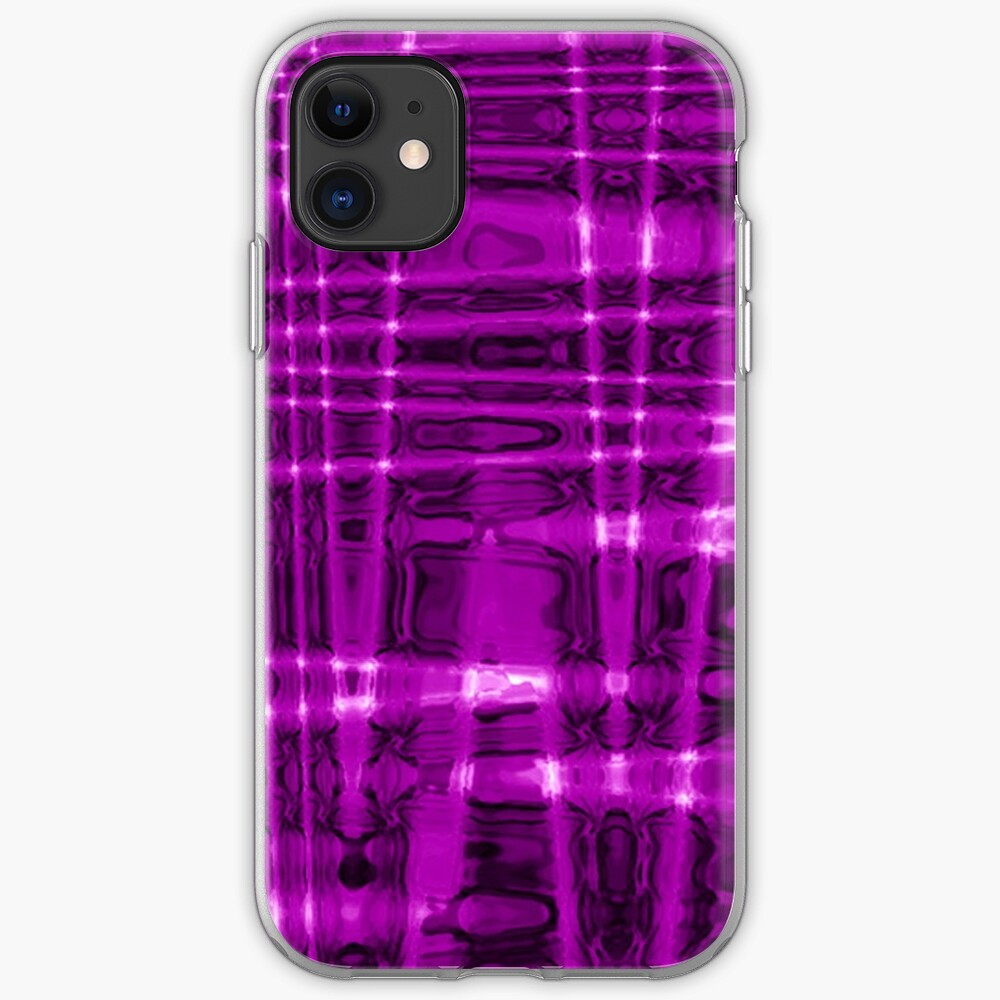 QUANTUM FIELDS ABSTRACT [1] VIOLET [1] iPhone Soft Case