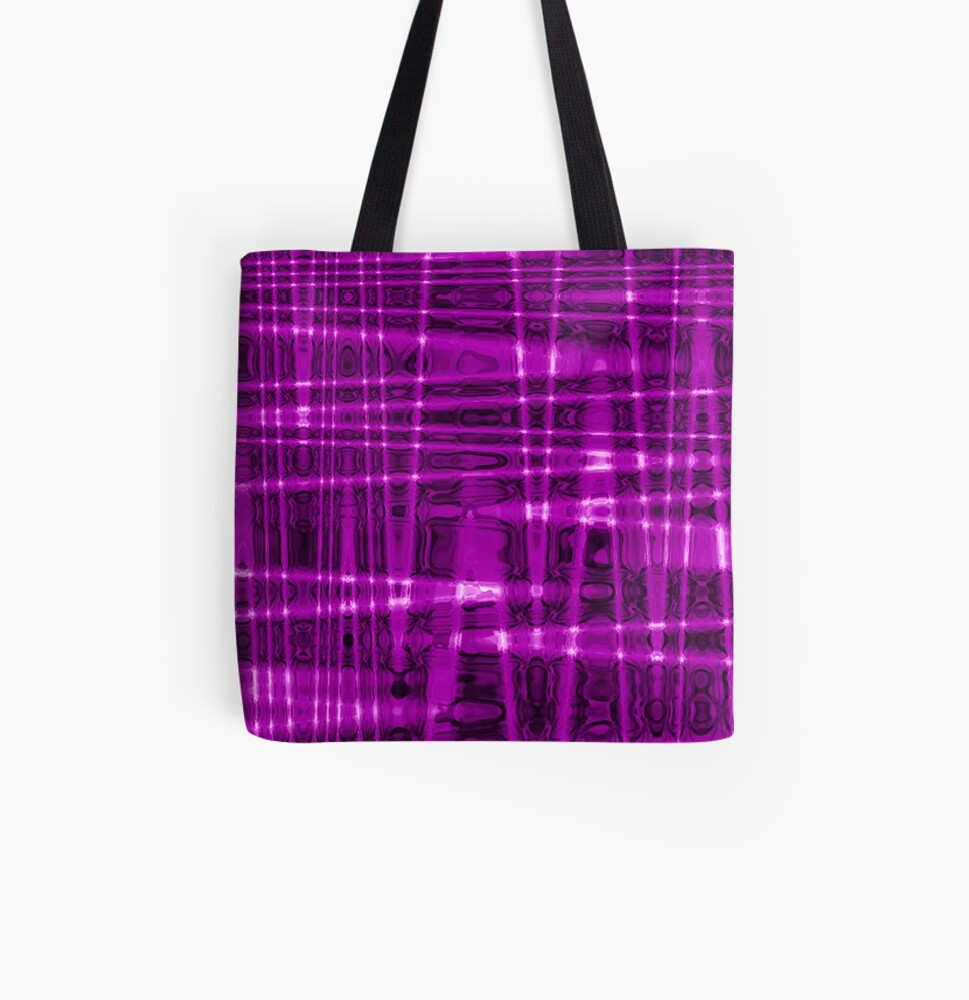 QUANTUM FIELDS ABSTRACT [1] VIOLET [1] All Over Print Tote Bag