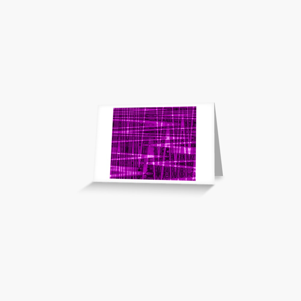 QUANTUM FIELDS ABSTRACT [1] VIOLET [1] Greeting Card