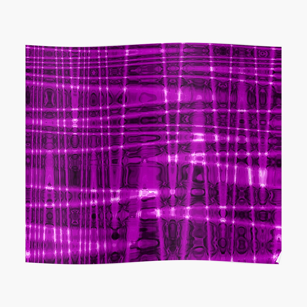 QUANTUM FIELDS ABSTRACT [1] VIOLET [1] Poster
