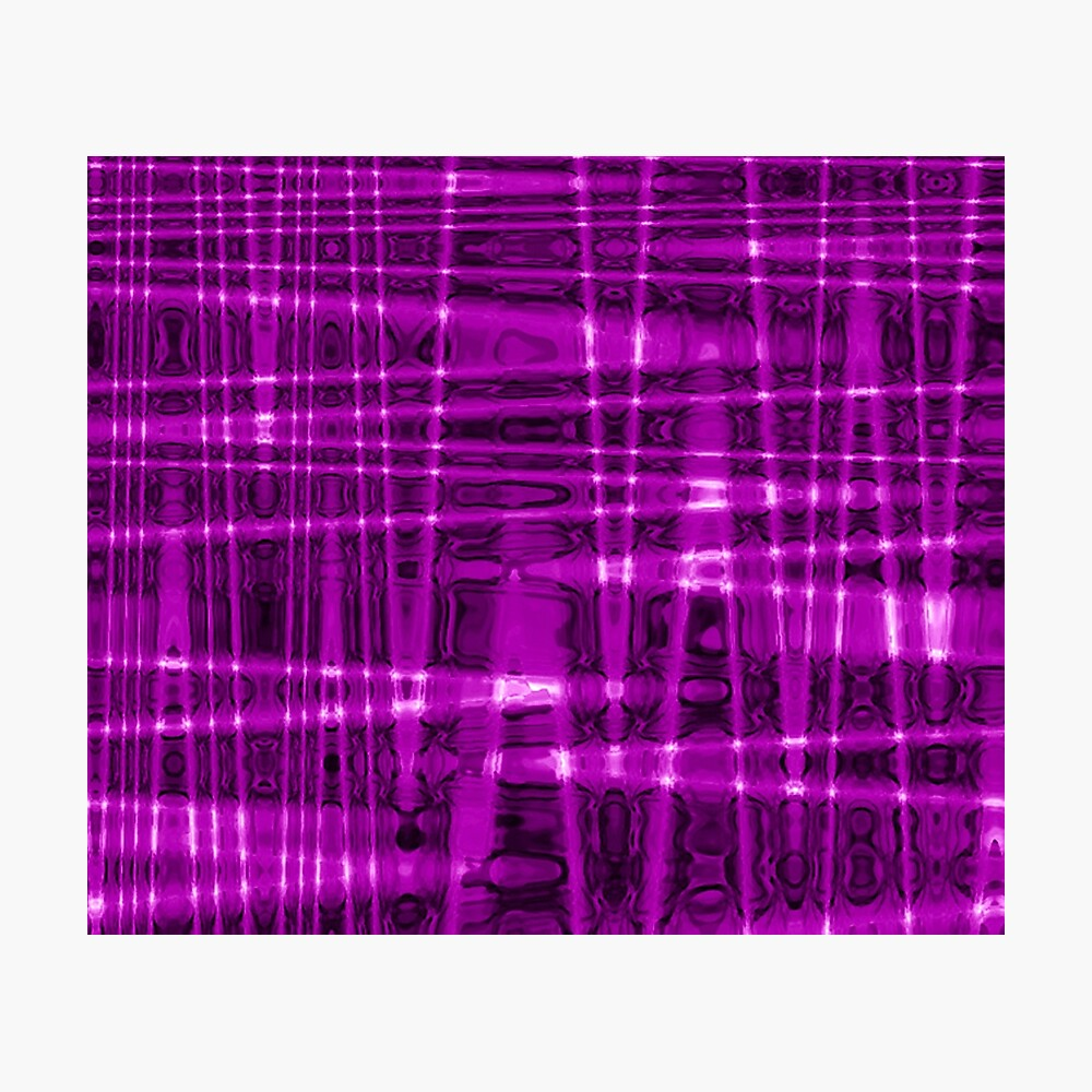 QUANTUM FIELDS ABSTRACT [1] VIOLET [1] Photographic Print