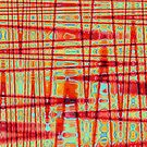 QUANTUM FIELDS ABSTRACT [1] RED [3] by jamie garrard