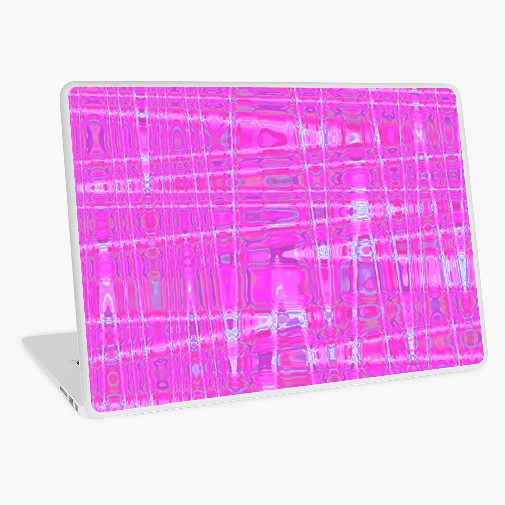 QUANTUM FIELDS ABSTRACT [1] PINK [1] Laptop Skin