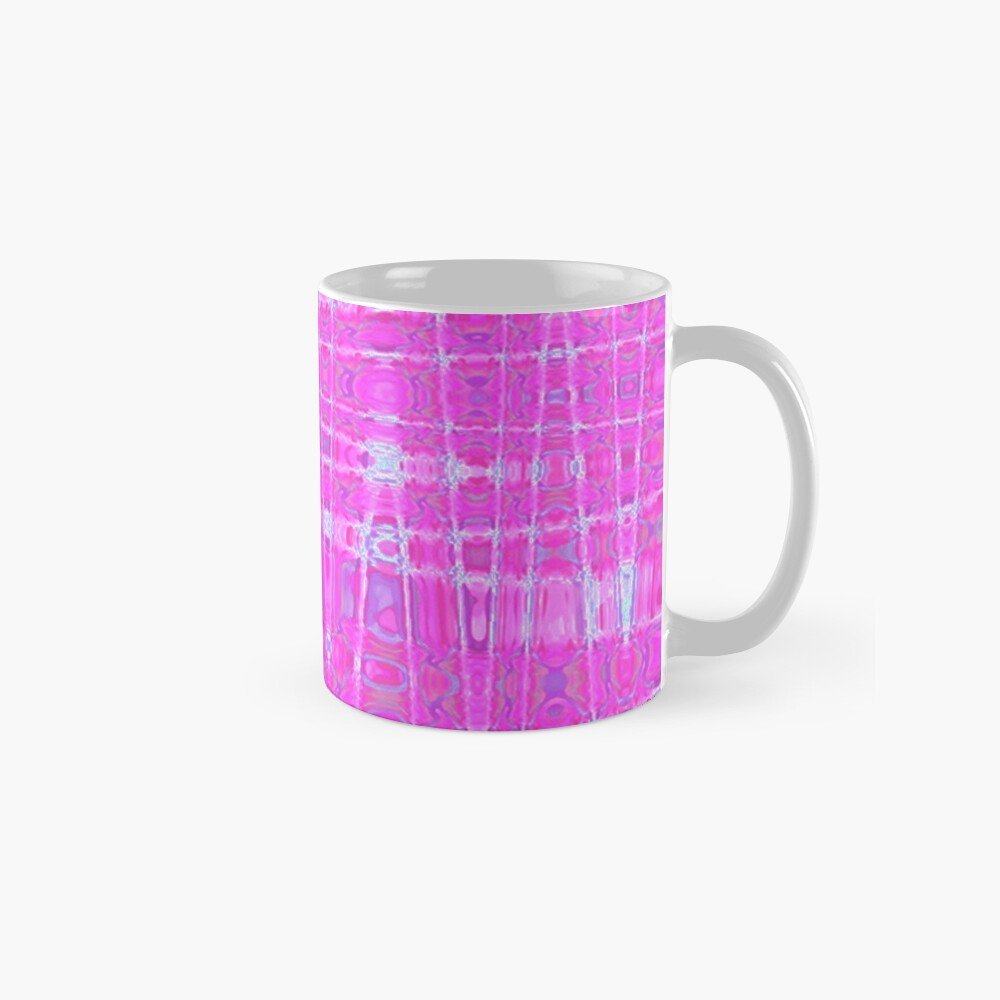 QUANTUM FIELDS ABSTRACT [1] PINK [1] Classic Mug
