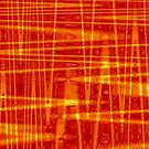 QUANTUM FIELDS ABSTRACT [1] ORANGE [1] by jamie garrard