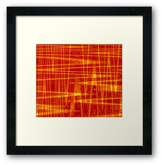 QUANTUM FIELDS ABSTRACT [1] ORANGE [1] by jamie garrard