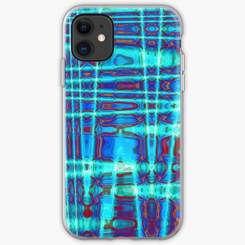 QUANTUM FIELDS ABSTRACT [1] INDIGO [2] iPhone Soft Case