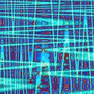 QUANTUM FIELDS ABSTRACT [1] INDIGO [2] by jamie garrard