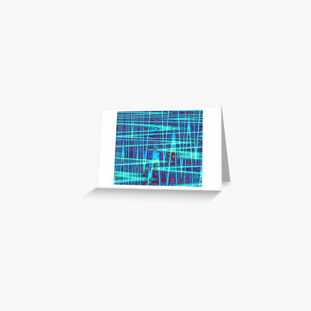 QUANTUM FIELDS ABSTRACT [1] INDIGO [2] Greeting Card