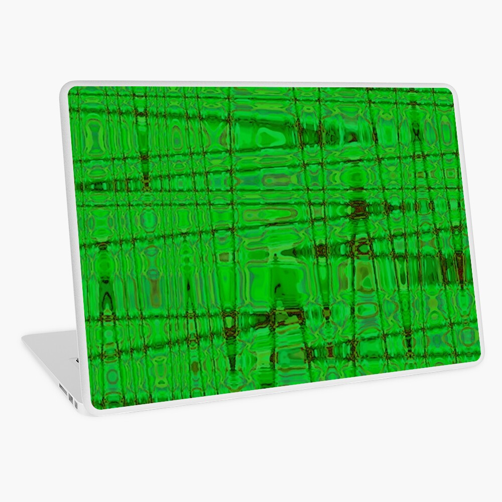 QUANTUM FIELDS ABSTRACT [1] GREEN [1] Laptop Skin