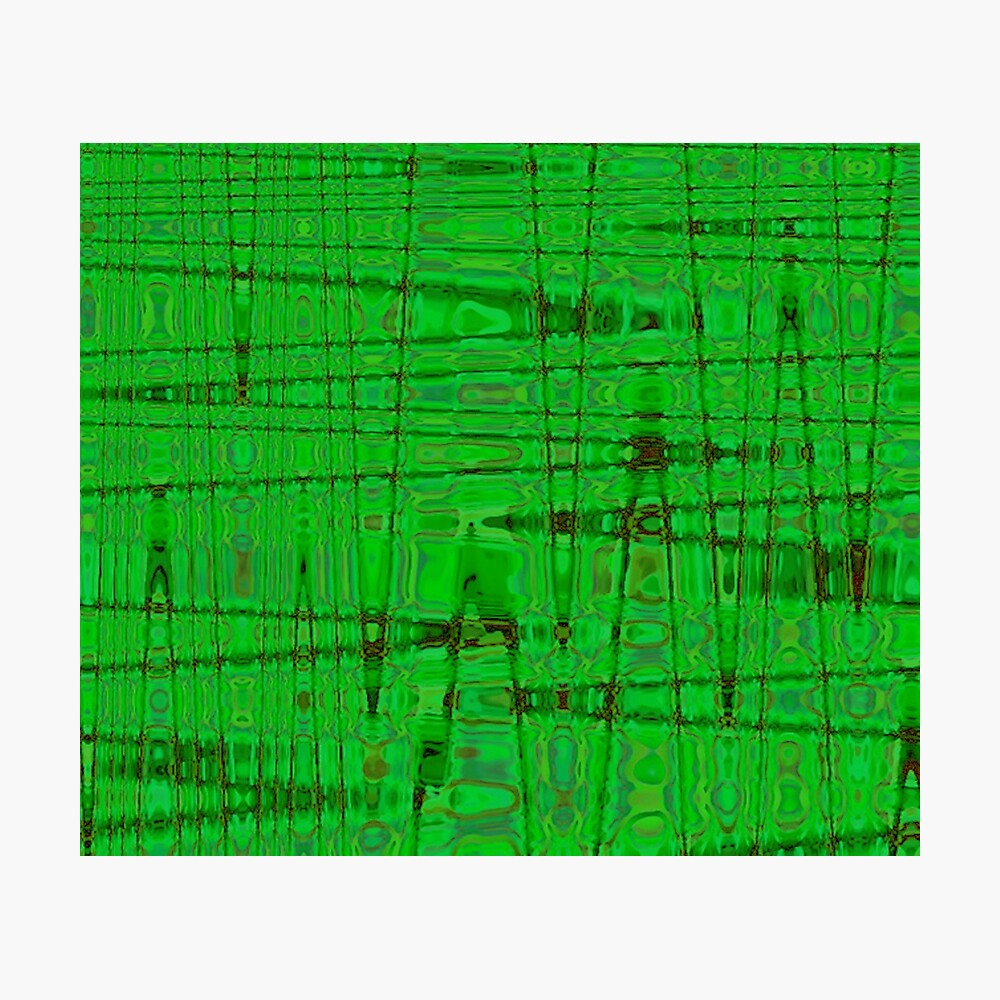 QUANTUM FIELDS ABSTRACT [1] GREEN [1] Photographic Print
