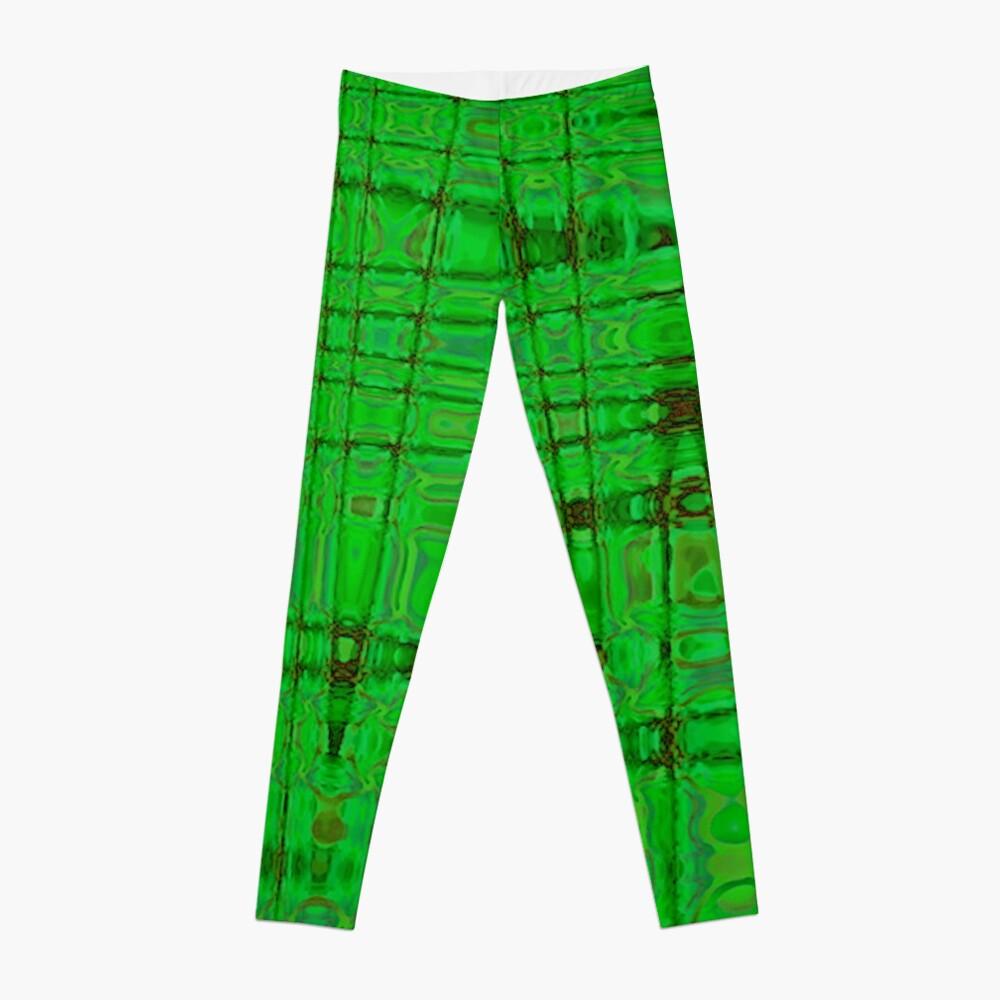 QUANTUM FIELDS ABSTRACT [1] GREEN [1] Leggings