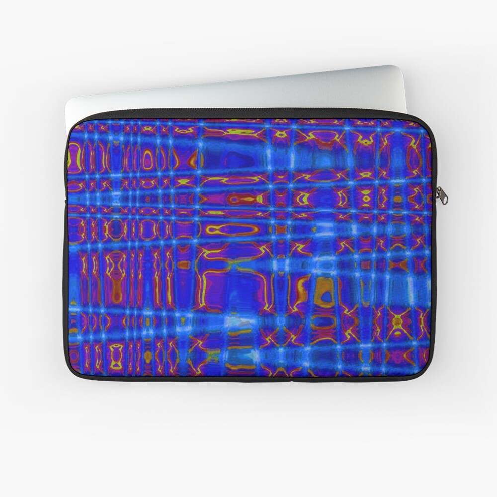 QUANTUM FIELDS ABSTRACT [1] BLUE [3] Laptop Sleeve