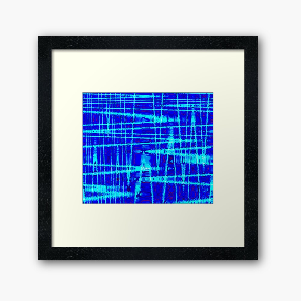 QUANTUM FIELDS ABSTRACT [1] BLUE [2] Framed Art Print