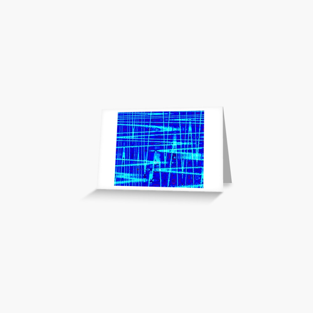 QUANTUM FIELDS ABSTRACT [1] BLUE [2] Greeting Card