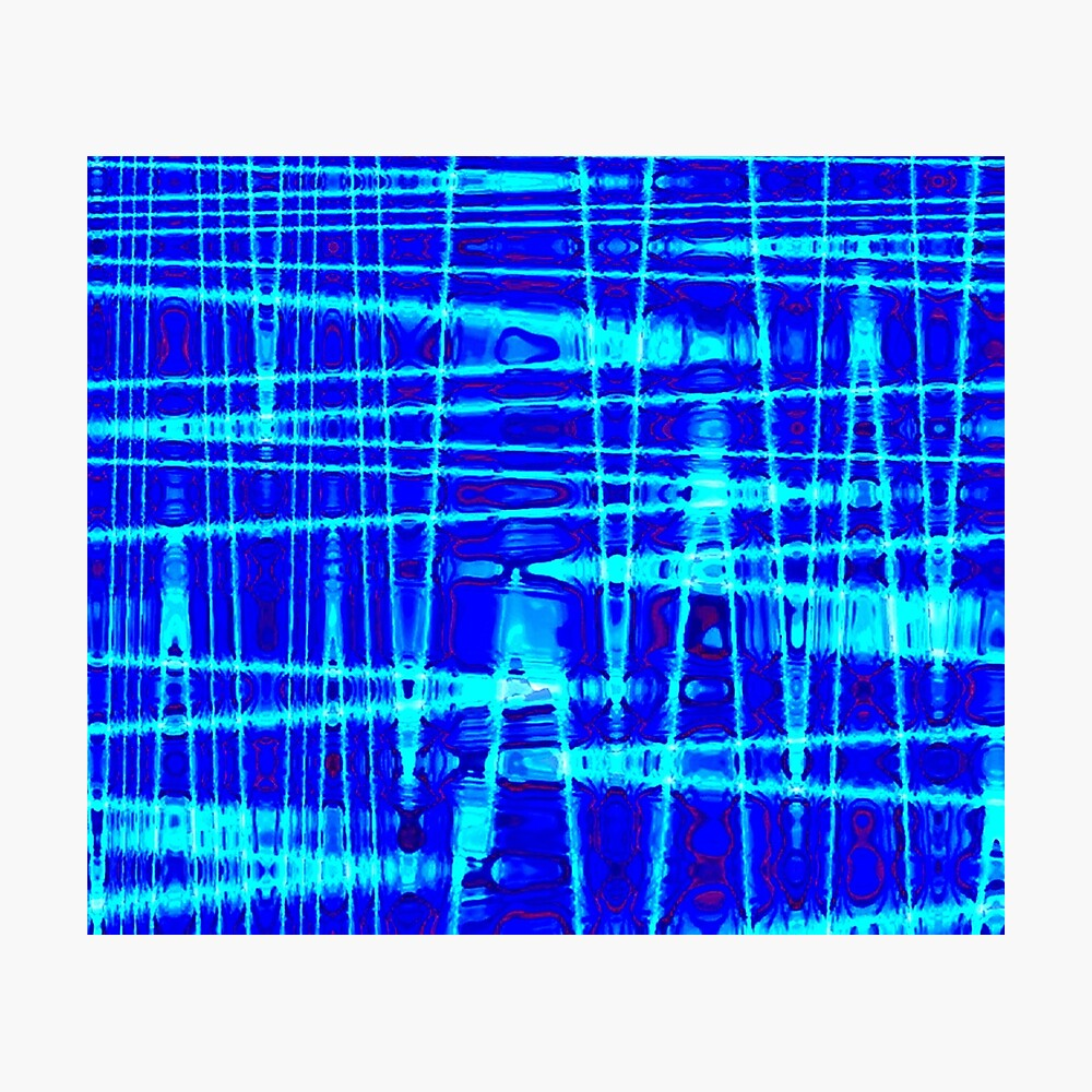 QUANTUM FIELDS ABSTRACT [1] BLUE [2] Photographic Print
