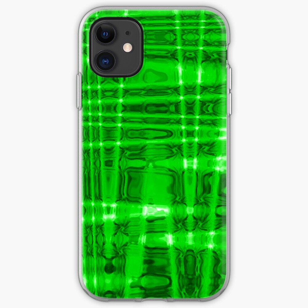 QUANTUM FIELDS ABSTRACT [1] GREEN [2] iPhone Soft Case