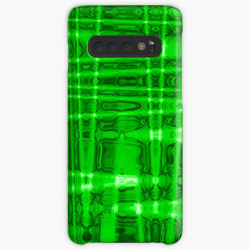 QUANTUM FIELDS ABSTRACT [1] GREEN [2] Samsung Galaxy Snap Case