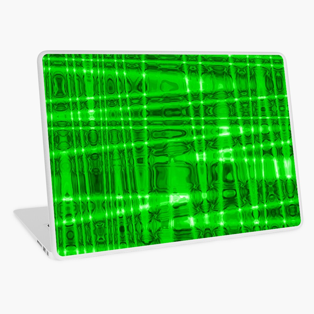 QUANTUM FIELDS ABSTRACT [1] GREEN [2] Laptop Skin