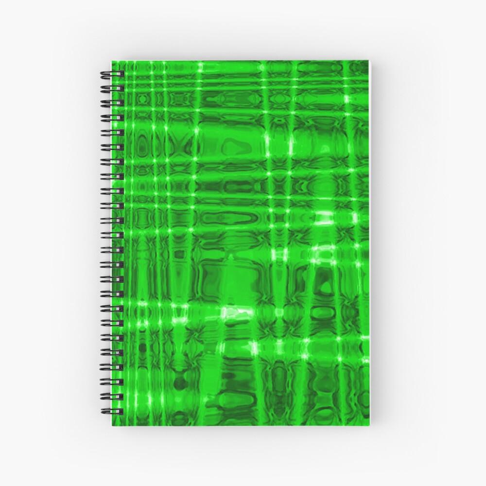QUANTUM FIELDS ABSTRACT [1] GREEN [2] Spiral Notebook
